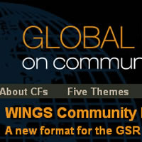 Website for the WINGS Global Status Report on Community Foundations